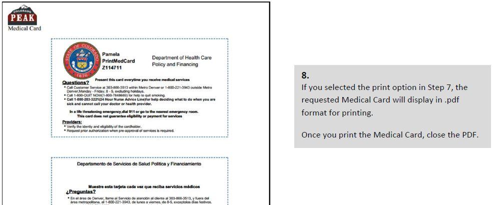 Print Medicaid Card | colorado gov/health