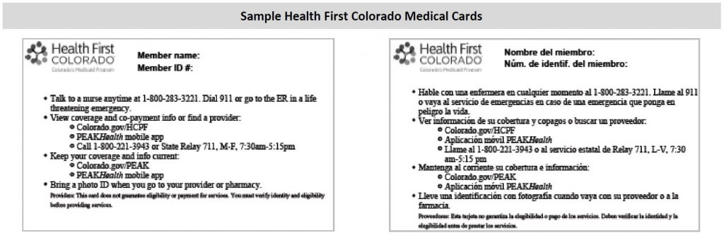 gov Print Medicaid Card health Colorado