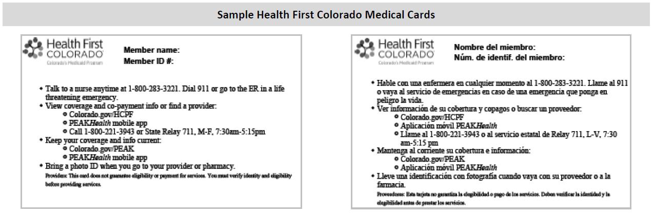 How do I print a Health First Colorado medical card through
