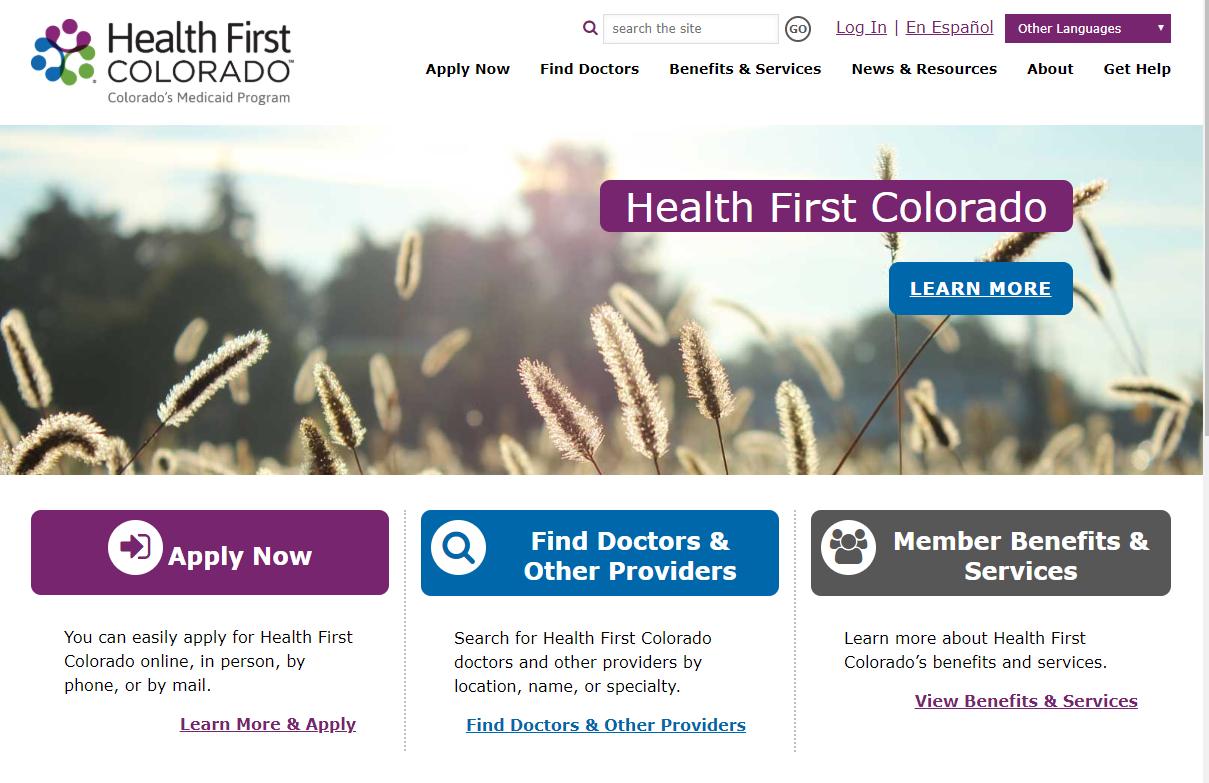 HealthFirstColorado.com Home Page